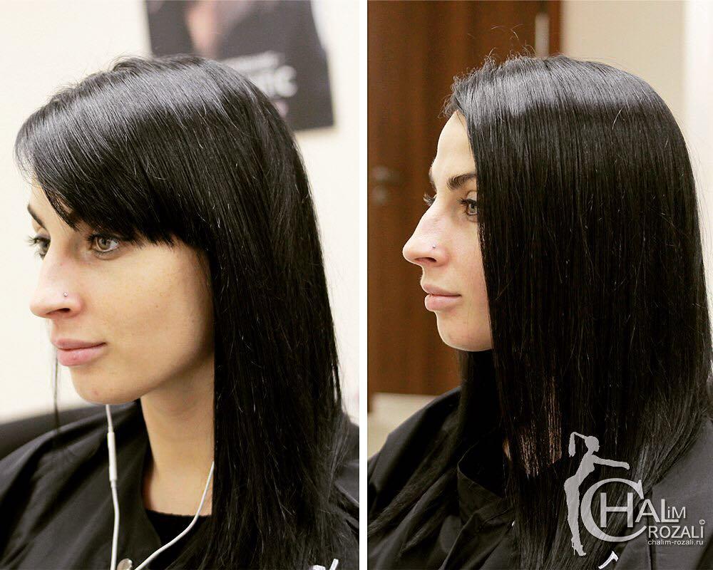 новичков нарощенная челка фото до и после комфортное помещение